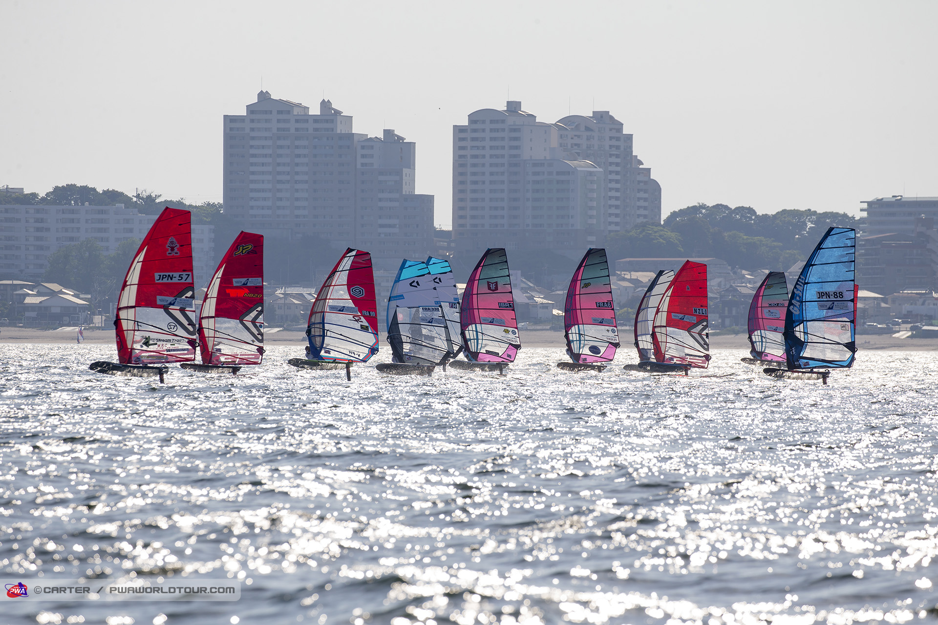 Racing underway in Yokosuka