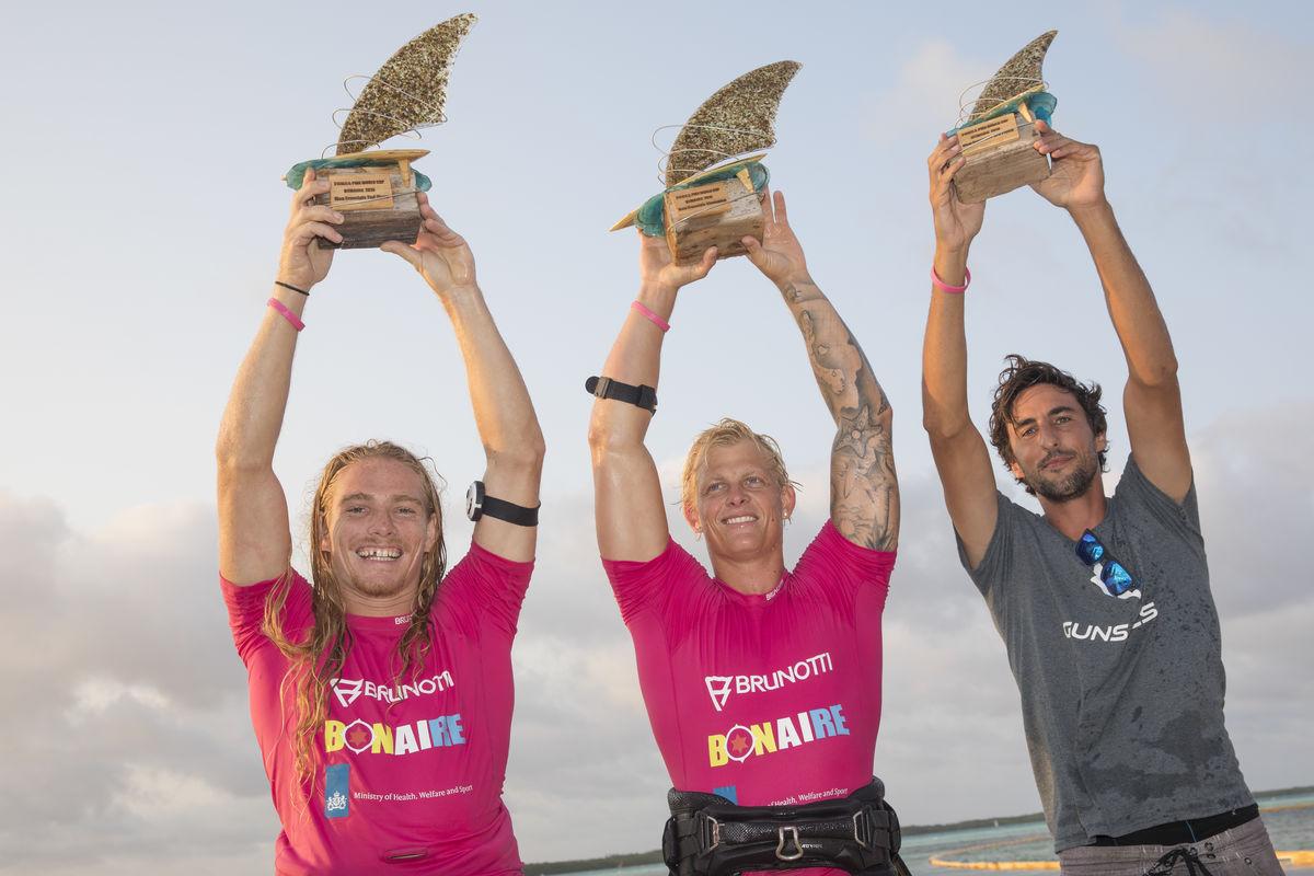 Men's podium - Youp Schmit, Amado Vrieswijk & Julian Mas (left to right)