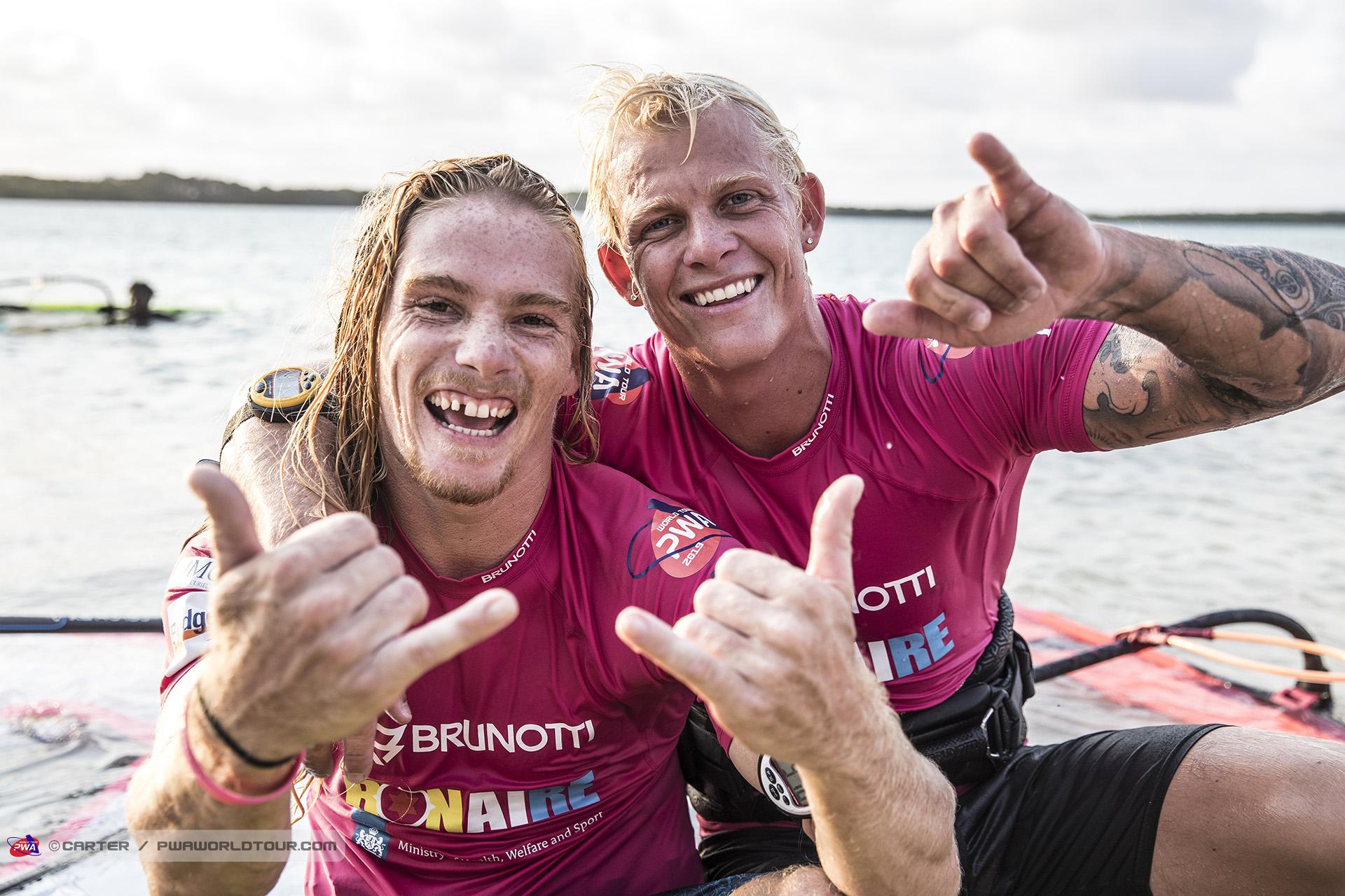 Youp Schmit & Amado Vrieswijk after their epic showdown