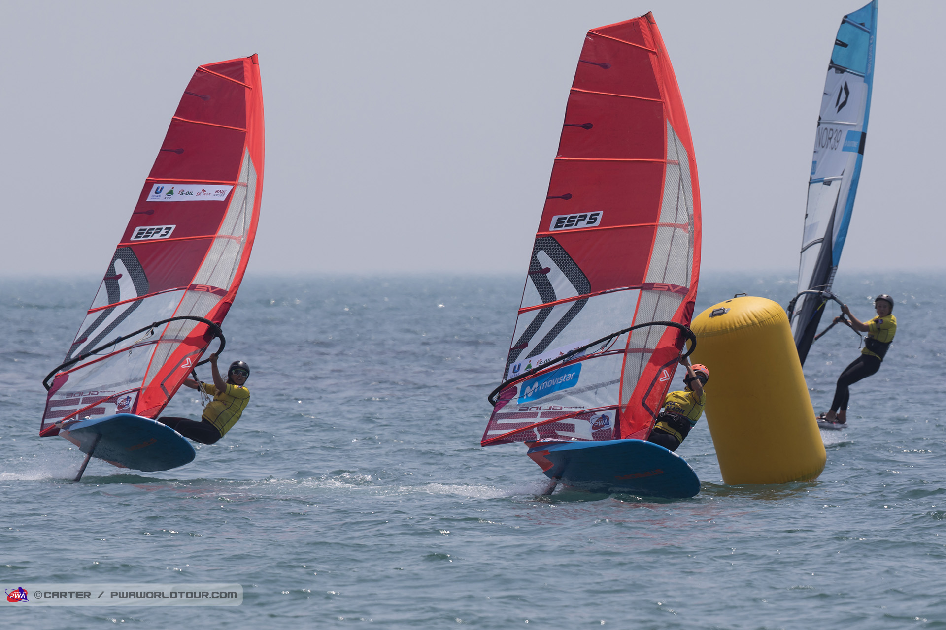 Marina Alabau just ahead of her sister Blanca Alabau